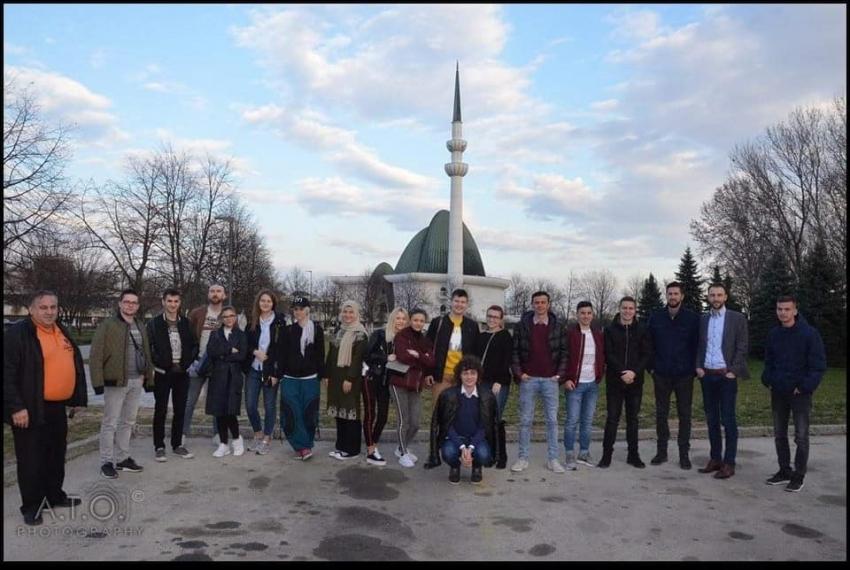 Mreža mladih Medžlisa IZ Bihać u posjeti Zagrebu