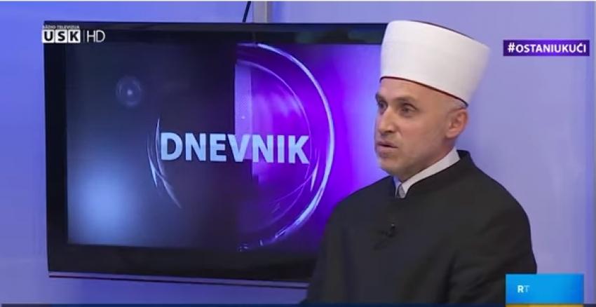 Muftija bihaćki hafiz Mehmed-ef. Kudić gost Dnevnika RTV USK